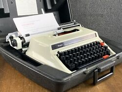 Mid Century Space Age Sears Manual 2 Portable Typewriter