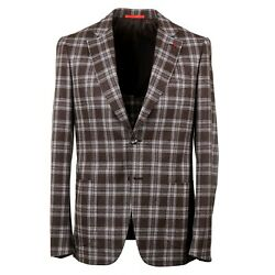 Isaia Slim-fit Layered Check Soft Brushed Flannel Wool Suit 40r Eu 50 Capri