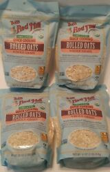 Bobs Red Mill Organic Quick Cooking Rolled Oats 4 1 Lb Packages New Open Box