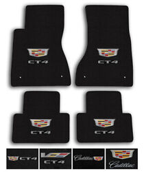 Lloyd Mats For 20-up Cadillac Ct4 | Luxe Carpet Luxury Floor Mats - Logo Andcolor