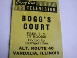 50and039s Boggand039s Court Vandalia Il And Boggand039s Deluxe Ct And Rest Greenville Il Matchcover