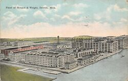 Detroit Michiganmorgan And Wright Plantunited States Tires Factory1922 Postcard