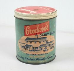 Advertising Container Box Goodwin's House Dairy Bars South Paris Auburn Maine