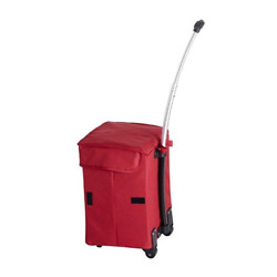 dbest products Smart Cart Rolling Utility Dolly Basket Tote Red Open Box $16.99
