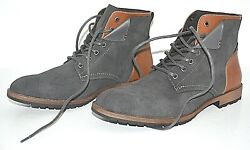 Restoration Menand039s Crush Grey Brown Dress Shoes High Top Boots Booties Size 10