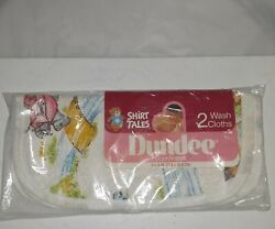 Vintage New Dundee Shirt Tails Baby Washcloths Set Of 2