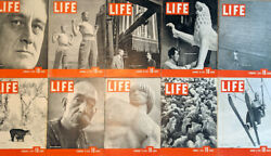 Lot Of 46 1937 Life Mags Roosevelt Sun Valley Golden Gate Coke Ads Free Shipping
