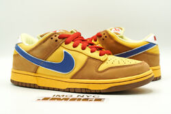 Nike Dunk Sb Low Used Size 8 Newcastle Brown Ale Gold Blue 313170 741
