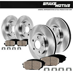 Front And Rear Brake Rotors And Ceramic Pads For 2001 2002 Ford Explorer 2wd