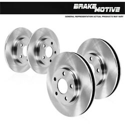 Front And Rear Brake Disc Rotors For 2004 2005 2006 2007 2008 Acura Tl Tls