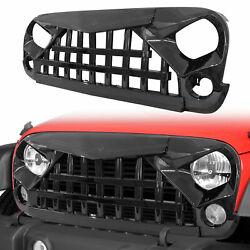 2007-2018 Jeep Wrangler Jk And Unlimited Glossy Black Samurai Grille Front Grill