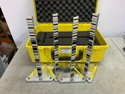 4 Barcode Marker Post With Base For Survey Construction Measuring Laser Leveling