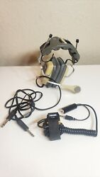 Vintage Telex E-951 Aviation Headset And Microphone With Pt-300 Switch Great Con