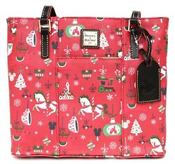 New Disney Dooney And Bourke Christmas Holiday 2019 Passholder Tote Bag Purse G