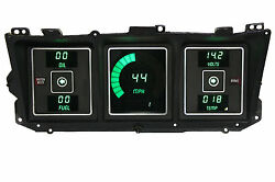 1973-1979 Ford Truck Digital Dash Panel Green Led Gauges Made In The Usa