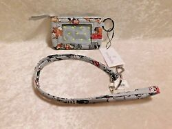 Vera Bradley Zip Id Case And Lanyard Best In Show Dog Nwt Limited Edition Puppy