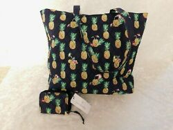 Vera Bradley Essential Tote Bag And Rfid Petite Zip Around Wallet Toucan Party Nwt
