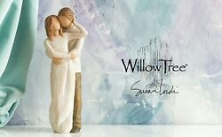 Together Figure Sculpture Hand Painting Willow Tree By Susan Lordi
