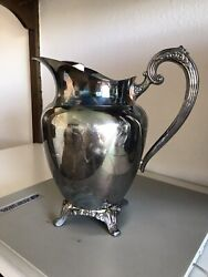 Oneida Silverplate Footed Pitcher
