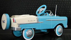 Tin Chevrolet Chevy Mini Pedal Cartoo Small To Ride Onmodel57hot55rod1955 1957