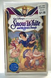 Vintage Disney Vhs Snow White And The Seven Dwarfs Sealed New Old Stock