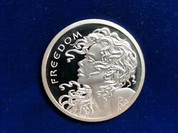 🌟2 Oz 2013 Freedom Girl .999 Silver Bullet Shield Sbss Proof In Capsule Only