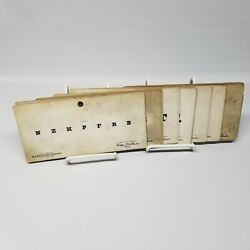 Antique Set Of F. A. Hardy And Company Vision Test Cards