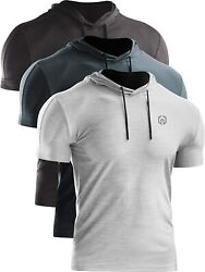 Neleus Menand039s Dry Fit Performance Athletic Shirt With Hoods