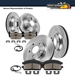 Front And Rear Kit Premium Brake Rotors And Ceramic Pads For 2013 Bmw 335i Xdrive
