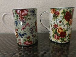 2 Royal Albert Old Country Roses Afternoon Tea Mugs Cups 8 Oz