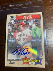 Topps 2017 Series 2 Mike Trout 1/1 Auto 30th Anniversary 1987 All Star
