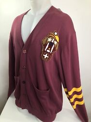 Play Cloths Our Gang New W Tag Mens Xl Embroidered Dog Patch Cardigan Sweater