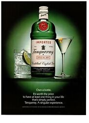 1990 Tanqueray Gin Own A Bottle Green Vintage Print Advertisement
