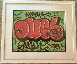 Duel Ris Untitled And039dueland039 2013 Signed/dated/framed Acrylic And Aerosol Painting