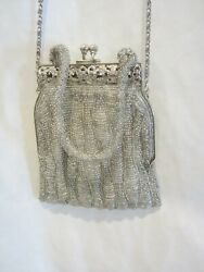 Inge Christopher Silver Evening Bag 6quot; x 5quot; NEW KL $9.99