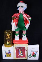 5 Hallmark Maxine Ornaments Crabby Claus And Crabby Caroler Automated Figure 15