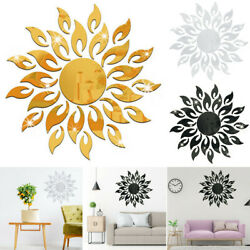 Sunflower Mirror Wall Stickers Art Mural Decal Living Room Home DIY Decorations