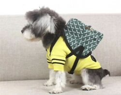 High Quality Green Pu Leather Mini Or Small Designer Dog Backpack Paris Style