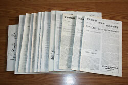 Rare 1975-1979 Table Top Sports Newsletter Magazine Lot