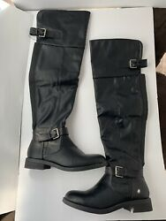 Charlotte Russe Knee High Boots Liselle Black Women's 9 $29.99