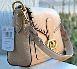 NWT Coach Leather Jade Whipstitch Crossbody Shoulder Taupe $398 91025 $167.00