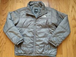 The North Face Men#x27;s Size M Full Zip Puffer Insulated Jacket Gray Excellent Cond $49.95
