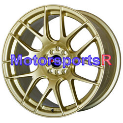 17 Xxr 530 Gold Staggered Rims Wheels Concave 5x4.5 94 98 99 04 Ford Mustang Gt