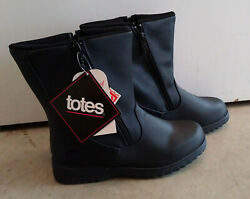 Totes Boots Women 8W Waterproof New w Tags Thermolite Black Side Zip synthetic $34.99