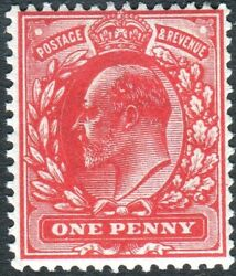 Sg 220 Var Unlisted 1d Intense Bright Scarlet. An Unmounted Mint With Cert