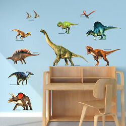 Decowall Dwl-2012 Dinosaurs Nursery Kids Removable Wall Stickers Decal