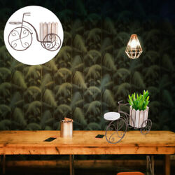 Iron Bike Plant Stand Rustic Style Flower Pot Cart Holder Desktop Decoration