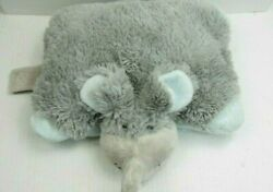 Mini Pillow Pets Pee Wee quot;Nutty Elephantquot; Plush Stuffed Animal Gray Blue 2010