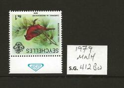 1979 Niue 1r Red Fody Sg412bw Inverted Watermark Unmounted Mint