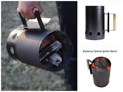Outdoor Camping Charcoal Barrel Stove Barbecue Fast Cooking Fire Starter Bucket